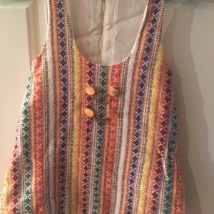 Vintage, 70's Ladies, Multi Color Vest